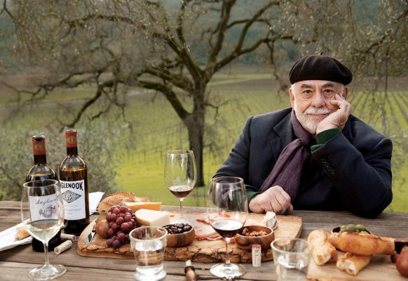 Francis Ford Coppola, photographed at his Inglenook winery, in the Napa Valley, California. Photograph by Sam Jones.