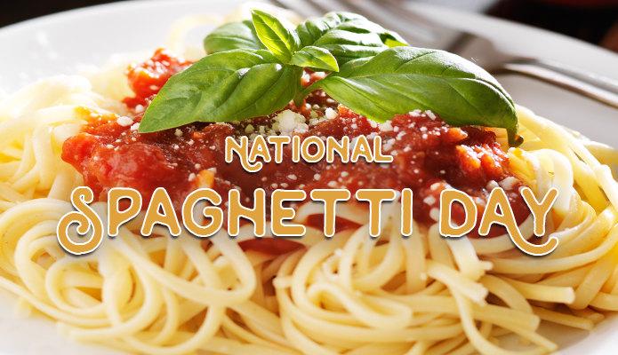 nel National Spaghetti Day, gli americani hanno potuto scegliere tra oltre 100 ricette diverse cucinate con gli spaghetti.