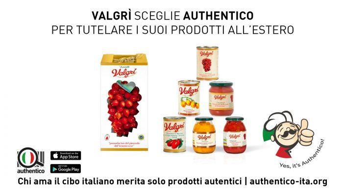 Comunicato Stampa: Valgrì sceglie Authentico per tutelare i suoi prodotti all'estero