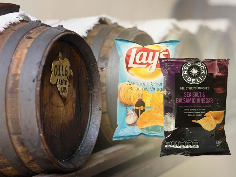 Aceto balsamico: aumenta l'export ma anche le imitazioni, addirittura nelle patatine