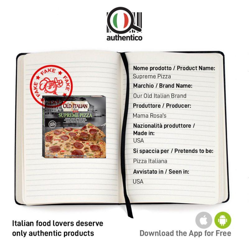 authentico app italian sounding old italian supreme pizza sito social