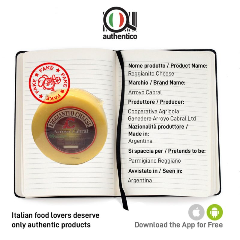 authentico app italian sounding reggianito cheese arroyo cabral sito social