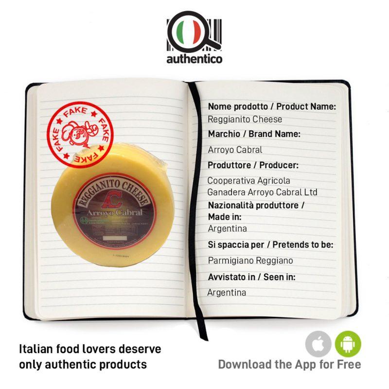 authentico app italian sounding reggianito cheese arroyo cabral sito social