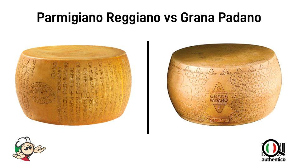 quali sono le differenze tra parmigiano reggiano e grana padano authentico autentico