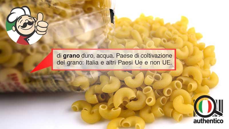 Grano della pasta: prorogato l'obbligo di indicazione di origine