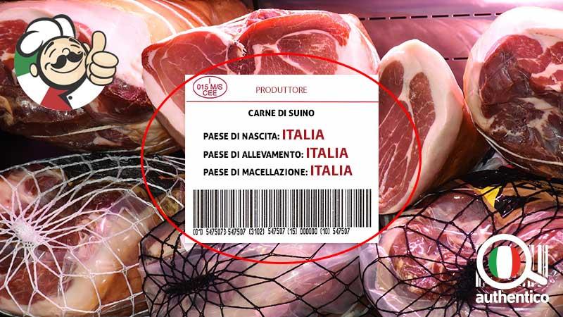 Provenienza di carne e salumi obbligatorio indicare l'origine in etichetta