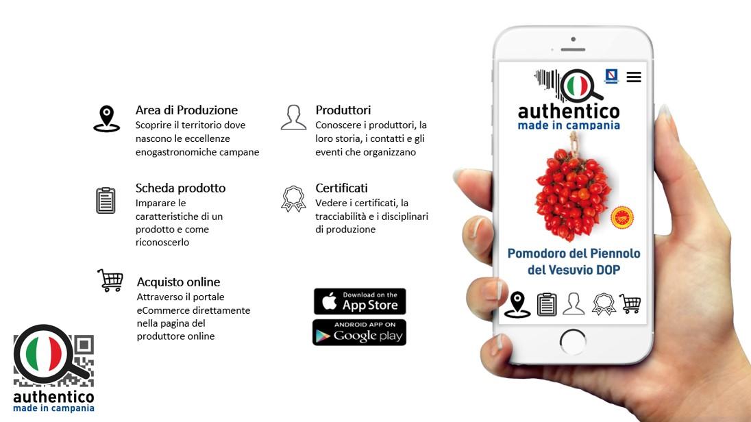 authentico made in campania app portale prodotti tipici campani cibo campano ricette piatti
