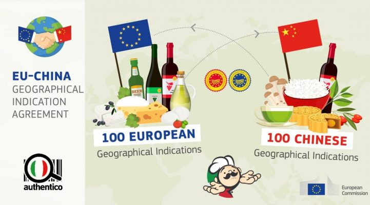 accordo ue-cina china europa cina via della seta geographical indication agreement dop igp