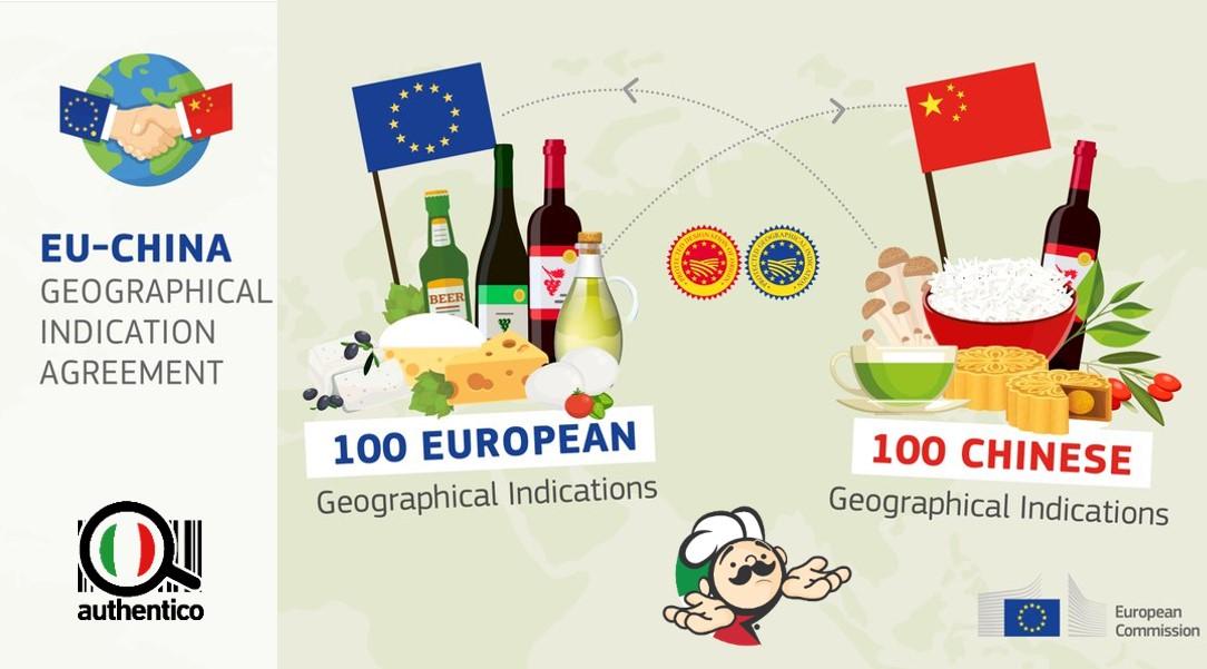 accordo ue-cina china europa cina via della seta geographical indication agreement dop igp